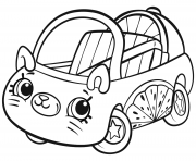 Cutie Cars Shopkins dessin à colorier