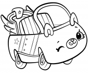 Shopkins Cutie Cars dessin à colorier