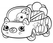 Shopkins Cutie Cars Bumper Balloons dessin à colorier