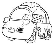 Shopkins Cutie Cars Wink dessin à colorier