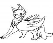 Coloriage cute gryphon hd by jaclynonacloudlines