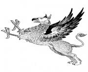 griffon antique dessin à colorier