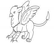 griffon aigle lion cheval dessin à colorier
