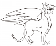 Coloriage griffon cartoon gryphon by jaclynonacloudlines