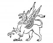 griffon creature legendaire grype dessin à colorier