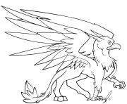 griffin by jaclynonacloudlines dessin à colorier