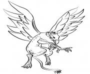 griffon dans les airs dessin à colorier