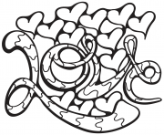 Coloriage ours coeur dessin