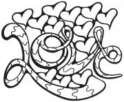 Coloriage cupidon joue de la musique dessin