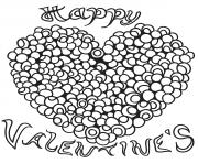 coloriage joyeux valentines coeur adulte