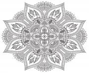 Coloriage mandala zen antistress difficile