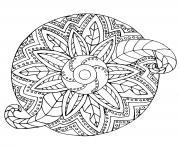 mandala adulte fleur vegetal dessin à colorier