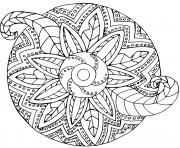 Coloriage mandala metal vegetal