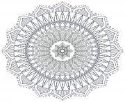 Coloriage mandala fleur dessin