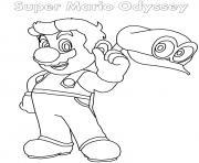Super Mario Odyssey dessin à colorier