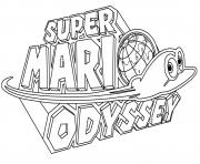 Super Mario Odyssey Logo Nintendo dessin à colorier