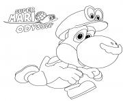 Super Mario Odyssey Yoshi Nintendo dessin à colorier
