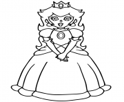Coloriage super mario princess peach