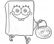 bobleponge Halloween dessin à colorier