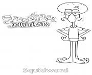 Coloriage Squidward