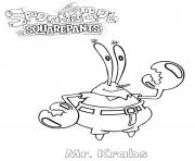 Coloriage monsieur Krabs