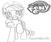 Coloriage Applejack My Little Pony