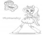 Coloriage Equestria Girls Fluttershy