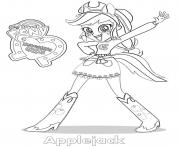 Equestria Girls Applejack dessin à colorier