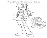 Coloriage Equestria Girls Twilight Sparkle