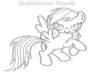 Coloriage Rainbow Dash