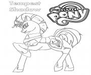 Coloriage Tempest Shadow My Little Pony