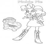 Coloriage Equestria Girls Pinkie Pie