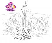 connect the dots crystal empire my little pony dessin à colorier