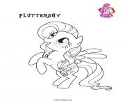 Fluttershy Crystal Empire My little pony dessin à colorier