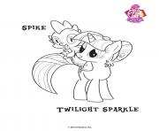 Spike Twilight Sparkle Empire Crystal dessin à colorier