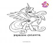 Princesse Celestra Crystal Empire My little pony dessin à colorier