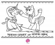 Coloriage princess cadance and shining armor