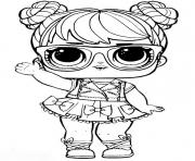 Coloriage poupee lol surprise pour fille