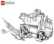 lego garbage truck dessin à colorier