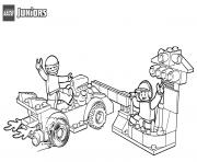 lego race car pit stop dessin à colorier