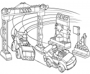 Coloriage lego junior race car competition