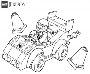 lego juniors race car dessin à colorier