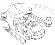 lego juniors racing car driver dessin à colorier