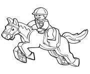 lego horse dessin à colorier