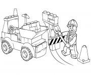 lego junior dump truck dessin à colorier