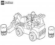 lego racetrack tow truck dessin à colorier