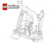 lego juniors the princess play castle dessin à colorier