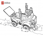 Coloriage lego truck