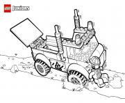 lego truck dessin à colorier