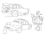 Coloriage lego juniors lightning mcqueen and junior